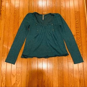 Free People | Buttons and Beads Sweater